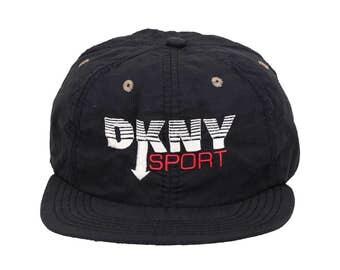 Vintage 90s DKNY SPORT Nylon Cap Hat