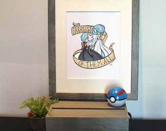 Pokemon Shiny Mega Gardevoir ''Fairiest of them all'' Tattoo Style Print