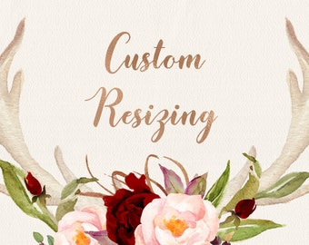 CUSTOM RESIZING, Add on for resizing the offered cards sizes