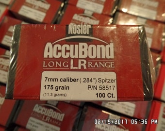 Nosler .284 Diameter Bullets - 175 Grain Accubond - 100 Count 2boxes 200total