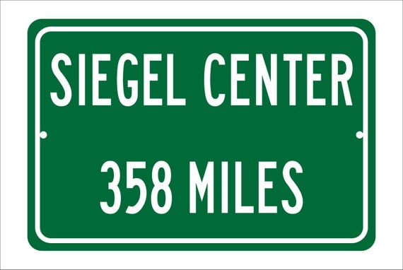 Custom College Highway Distance Sign to Seigel Center | Home of the VCU Rams | Rams Basketball | Virginia Commonwealth University | VCU