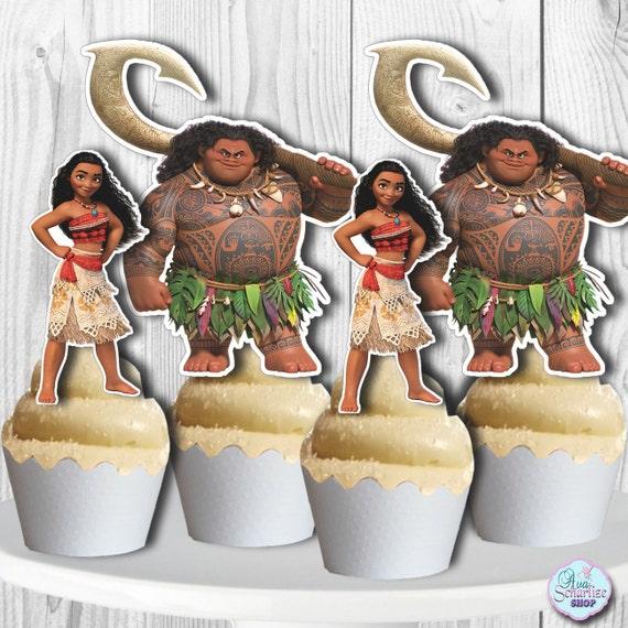 Moana Cupcake Toppers Moana Cake Pop Toppers Moana Cupcake