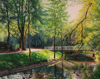 Custom Landscape Painting, Acrylic Painting Landscape, Landscape Art, Painting From Your Photo, summer landscape, autumn landscape