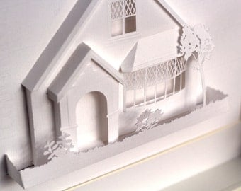 3D Paper House Design - Kirigami Inspired