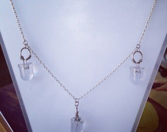 Big clear LEDs necklace