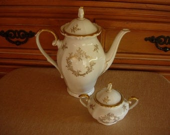 Winterling Bavaria Western Germany China/Porcelian Coffee Pot and Sugar Bowl