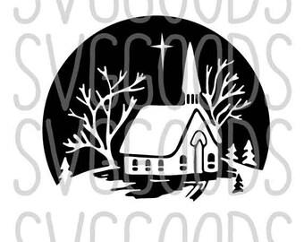 Christmas SVG, Ornament SVG, church SVG, nativity svg, snow svg, christian svg, vintage svg, cut file, commercial svg, cricut, svg file