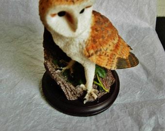 Decorative bird figurine, The country bird collection, The Barn Owl