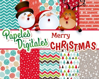 Papers digital Christmas-Merry Christmas 12 by 12