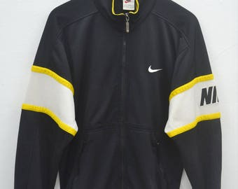 NIKE Track Top Vintage 90's Nike Swoosh Big Logo Spellout Track Top Zipper Sweater Size S
