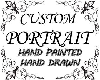 Custom Art custom portrait from photo Custom Hand Painted Custom Hand Drawn Family Portrait, Custom Girl Portrait Custom Child Portrait