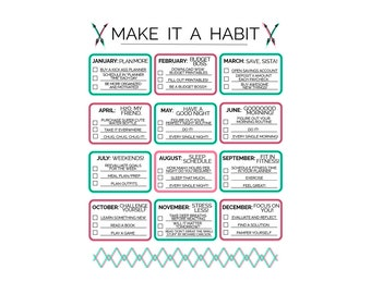 Habit Prefilled Planner Printable