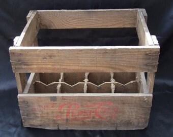 Old Pepsi Cola wood box//Pepsi crate//Pepsi wooden Crate