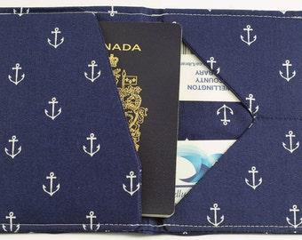 Cruise Passport Holder,Nautical, Sailing, Boating