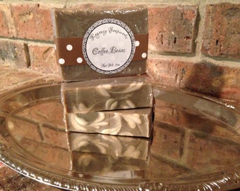 Coffee Beans Handcrafted Soap all natural coffee scented soap