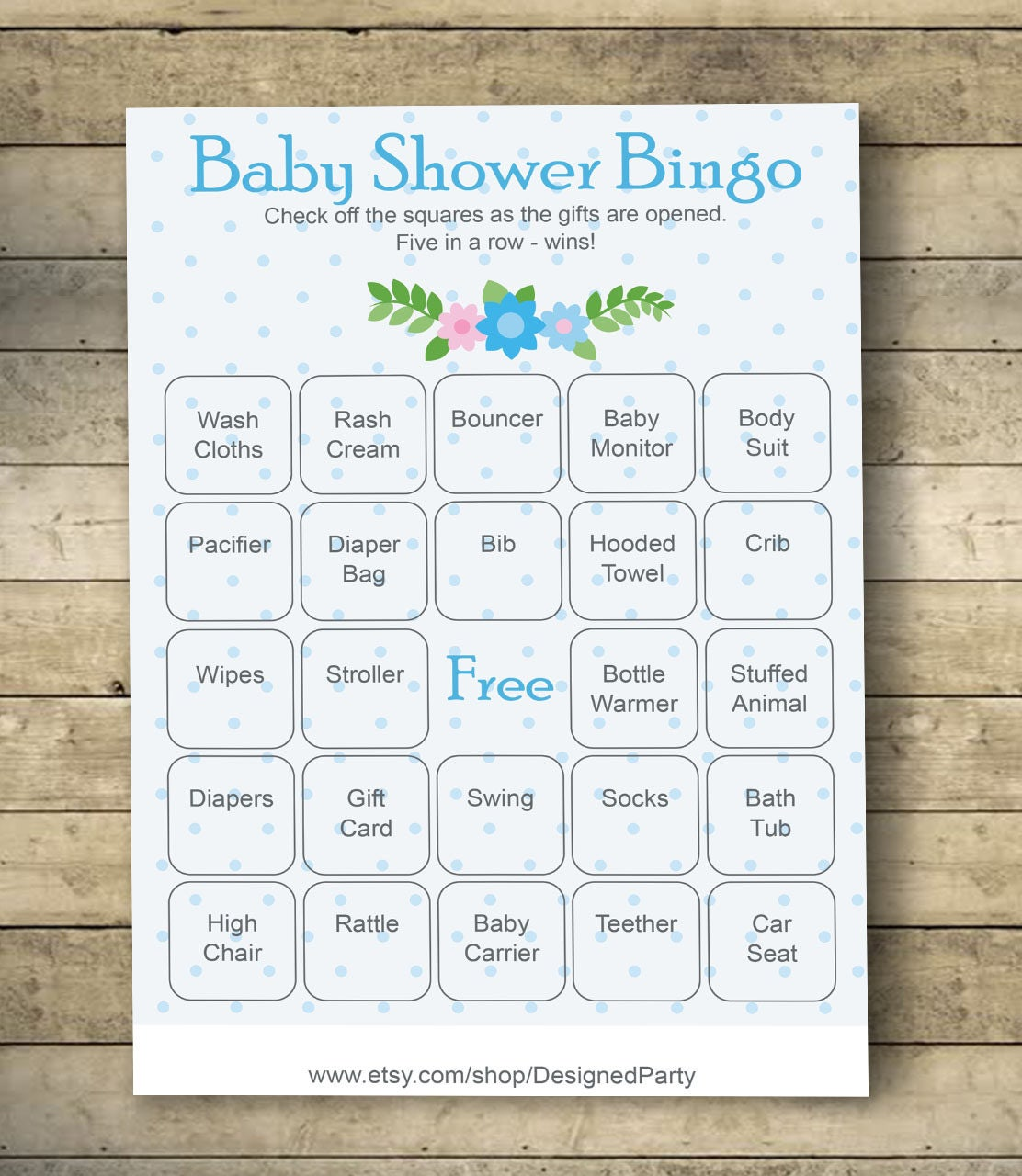 It is an image of Sly 40 Free Printable Baby Shower Bingo Cards