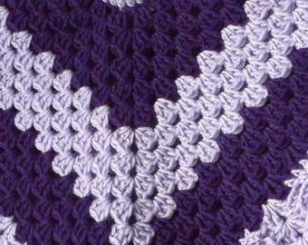 Childs Crochet Poncho - Poncho - Childs Poncho - Crochet Poncho - Purple Poncho
