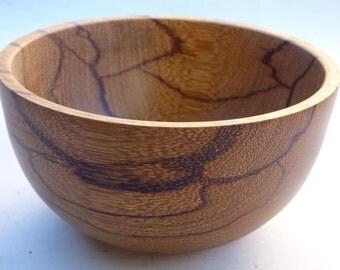 Turned Marble Wood Bowl