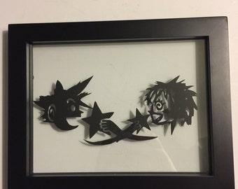 Gaming Framed Art - Kingdom Hearts cave drawing