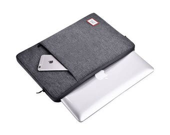 Laptop Bag 13 Inches, Laptop Cover, Laptop Case, Macbook Pro Case, Laptop Case, Macbook Pro Sleeve, Macbook Air Hard Case, Dark grey, K55