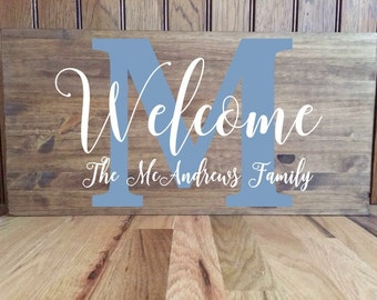 Family Name Sign// Wood Sign// Personalized// Established Sign//