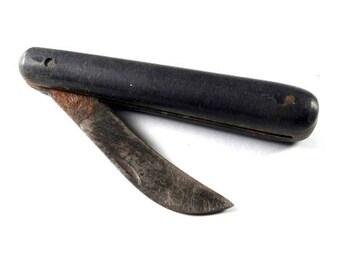 Vintage Pocket Knife, Old Knife, Folding Scout Camping, Collectible, Vintage Knife, Survival Knife, Folding Knife, Wooden Handle