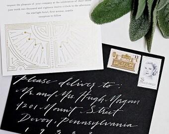 Custom Envelope Calligraphy : Nikki Style