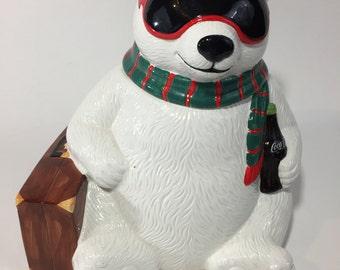 Vintage Coca Cola Coke Polar Bear Hollywood Cookie Jar
