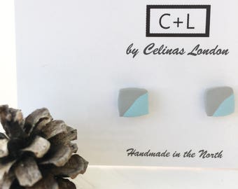 Blue and grey studs / square studs