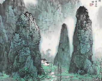 Chinese traditional landscape painting BXS99