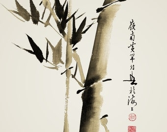 Chinese traditional painting bamboo painting