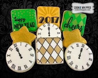 New Year's Eve Cookie Set - 1 Dozen