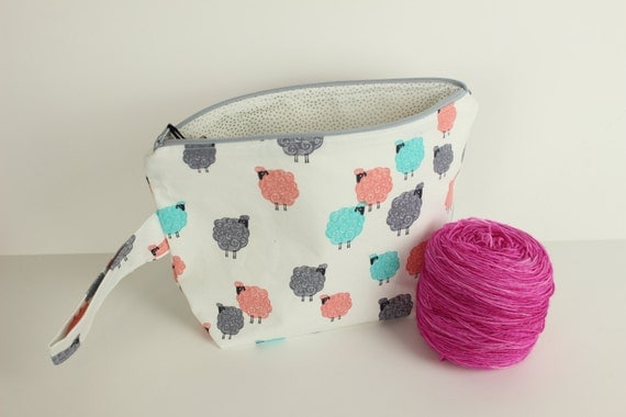 Baa Baa Baby Medium project bag