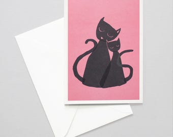 Greeting card - cool cats