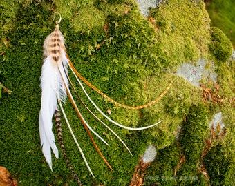 Earring feathers mist