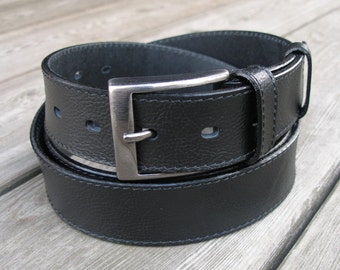 leather belt, mens leather belt, men belt, black belt, wide leather belt, belt for suit, black belt for suit, suit black belt, gift for him
