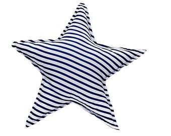 Pillow Star - Navy Stripes