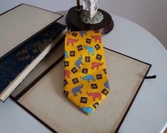 Fendi Silk Tie/ Fendi Necktie/ Vintage Fendi Silk Tie