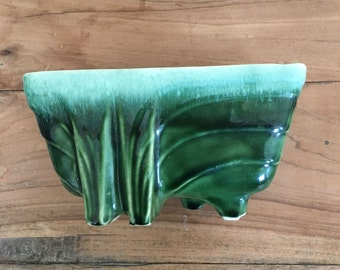 Green Ombre USA Pottery Planter or Pot