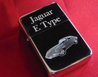 Jaguar E Type Car Engraved Fuel Lighter With Gift Box = Birthday, Wedding, Anniversary, Mother's Day, etc Gift