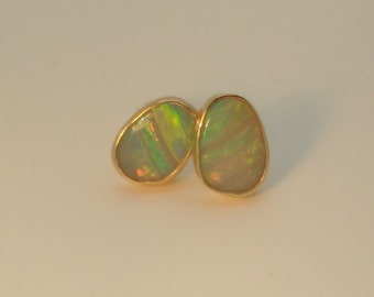 Opal ear studs