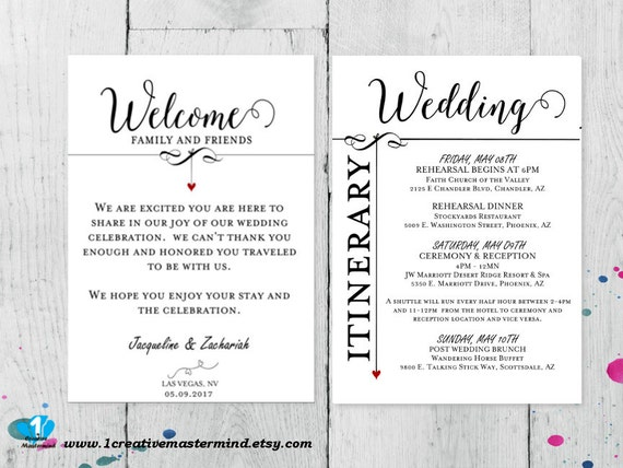 diy wedding welcome bag note welcome bag letter printable