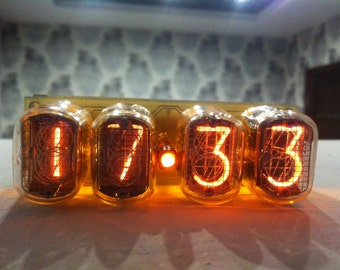 nixie tube clock in12
