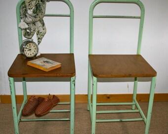 Pair of nightstands boarding school from the 50s