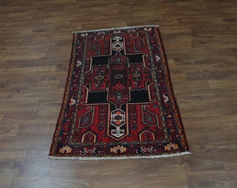 Antique Handmade Medium Foyer Hamedan Wool Persian Oriental Area Rug Carpet 4X6
