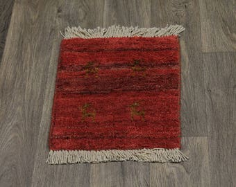 Details about  Tribal Handmade Tiny Red Modern Gabbeh Persian Rug Oriental Area Carpet 1'3X1'6