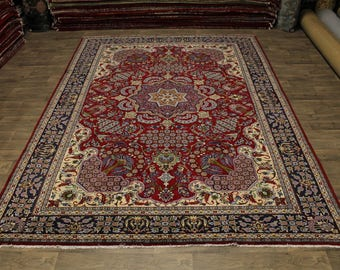 Exceptional Design Hand Knotted Najafabad Persian Rug Oriental Area Carpet 10X14