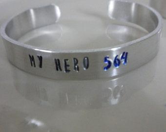 Police bracelet Firefighters Bracelet Thin blue line bracelet thin red line bracelet metal stamped bracelet slim bracelet lollypop font