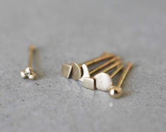 14k gold nose stud, solid gold nose ring, 14k gold nose ring, 14k tiny gold nose stud, tiny gold nose stud, nose stud gold, nose ring stud