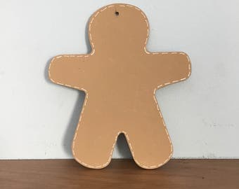 Large wooden gingerbread man